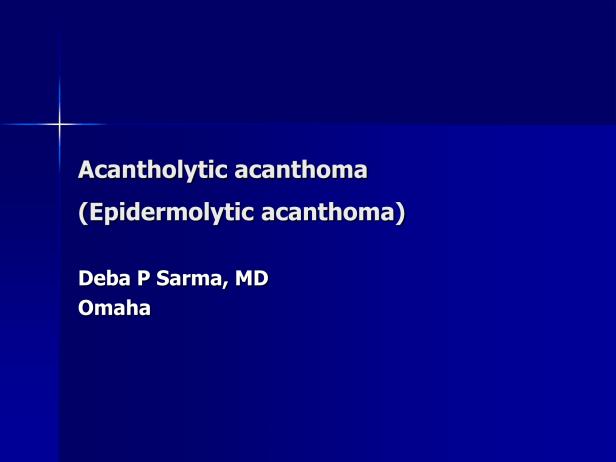 Acantholytic acanthoma (Epidermolytic acanthoma),M 65, neck-1