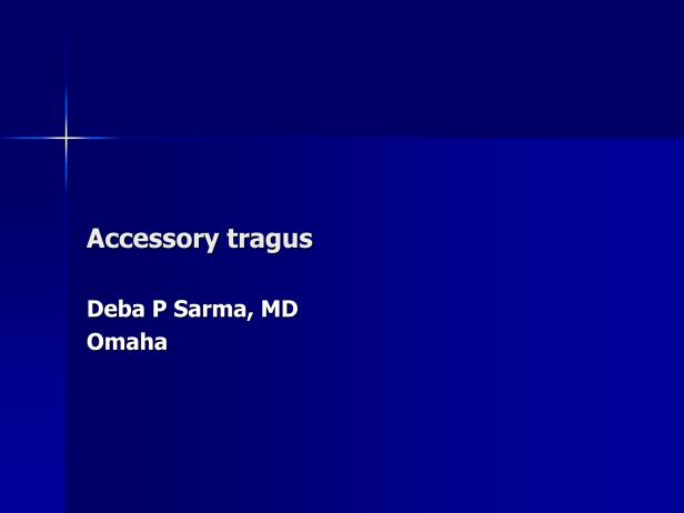Accessory tragus-1