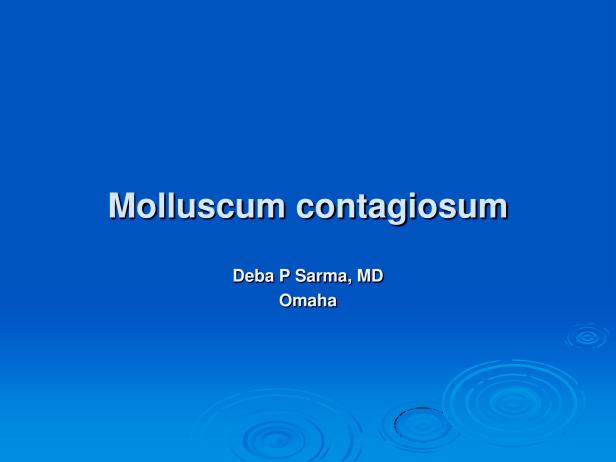 Molluscum contagiosum, M 19, penis. PPT-1